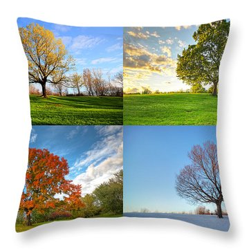 Canadian Seasons Throw Pillow