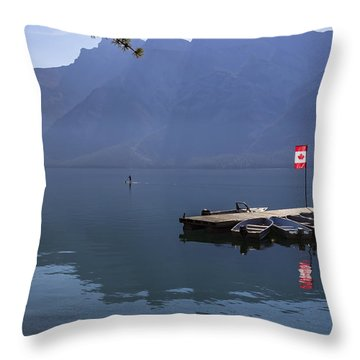 Canadian Serenity Throw Pillow by Angela A Stanton