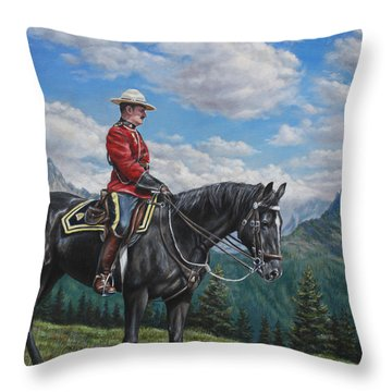 Canadian Majesty Throw Pillow