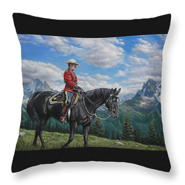 Canadian Majesty Throw Pillow