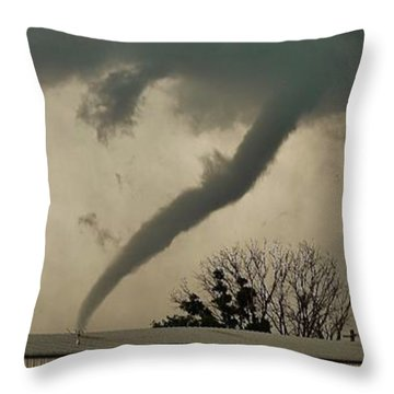 Canadian Tx Tornado Throw Pillow