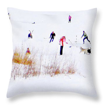 Throw Pillow featuring the photograph Canadiana by John Poon
