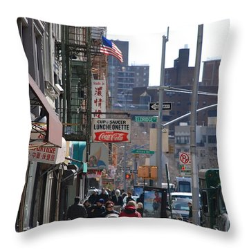 Canal And Eldridge Throw Pillow by Rob Hans