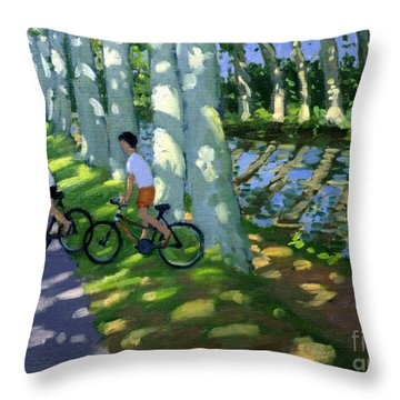 Canal Du Midi France Throw Pillow by Andrew Macara