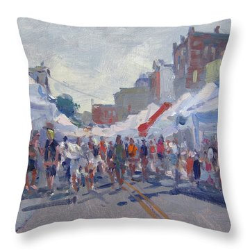 Canal Fastival 2018 Webster Str Throw Pillow