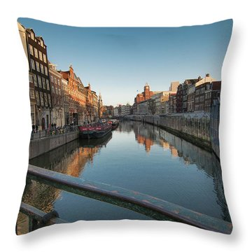 Canal From The Bridge Throw Pillow