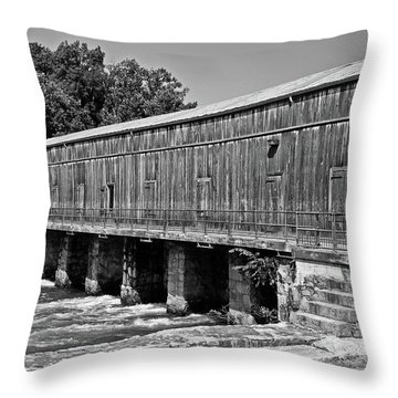 Canal Headgates Throw Pillow