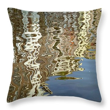 Canal House Reflections Throw Pillow by Joan Carroll
