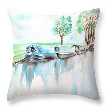 Canal Journey Throw Pillow