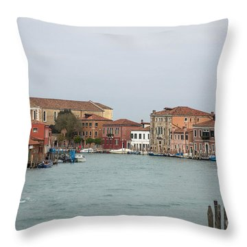 Canal Of Murano Throw Pillow
