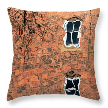 Canal Reflections 1 Throw Pillow