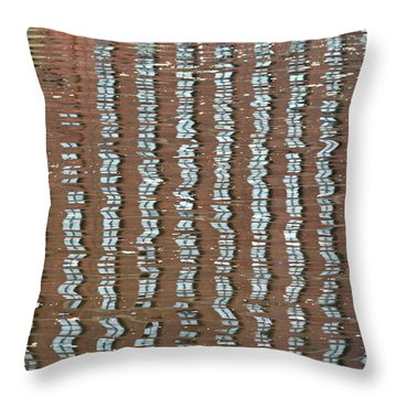Canal Reflections 4 Throw Pillow