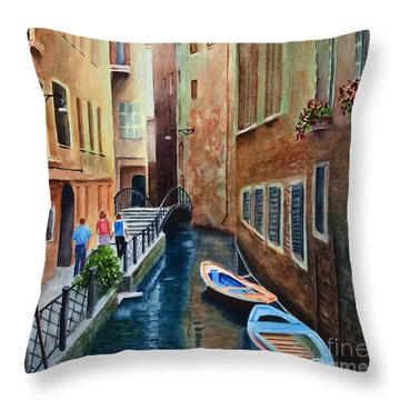 Canal St. Throw Pillow