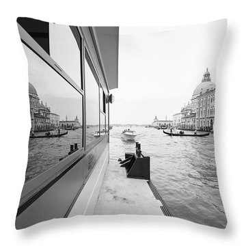 Canale Riflesso Throw Pillow
