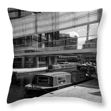 Canals London Throw Pillow