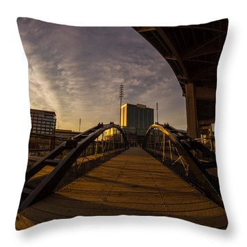 Throw Pillow featuring the photograph Canalside Dawn No 5 by Chris Bordeleau