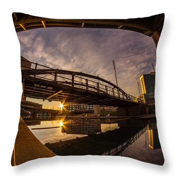 Canalside Dawn No 6 Throw Pillow by Chris Bordeleau
