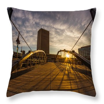 Throw Pillow featuring the photograph Canalside Dawn No 7 by Chris Bordeleau