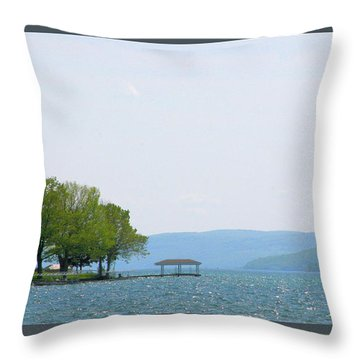 Canandaigua Lake-ii Throw Pillow