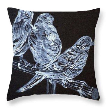Canaries Throw Pillow