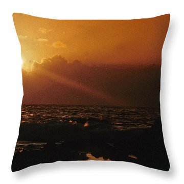 Canary Islands Sunset Throw Pillow