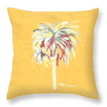 Canary Palm Tree Throw Pillow