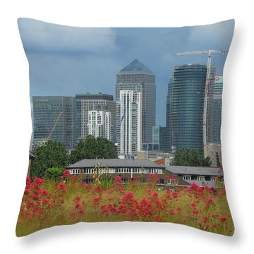 Canary Wharf 01 Throw Pillow