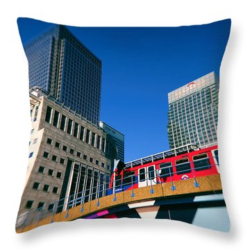 Canary Wharf Commute Throw Pillow