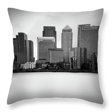 Canary Wharf II, London Throw Pillow