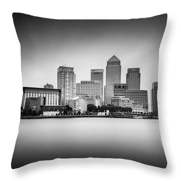 Canary Wharf, London Throw Pillow