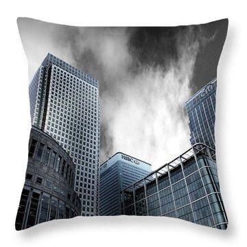 Canary Wharf Throw Pillow by Martin Newman