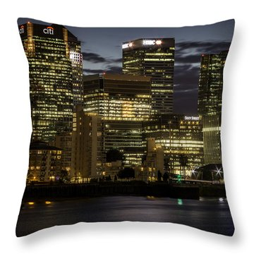 Throw Pillow featuring the photograph Canary Wharf by Ryan Photography
