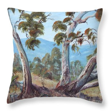 Canberra Hills Throw Pillow