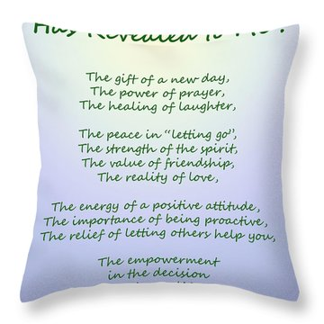 Cancer Has Revealed To Me Throw Pillow