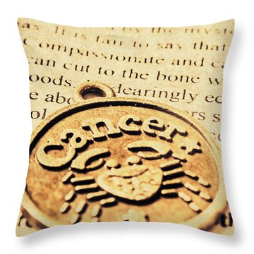 Cancer Star Sign Art Throw Pillow