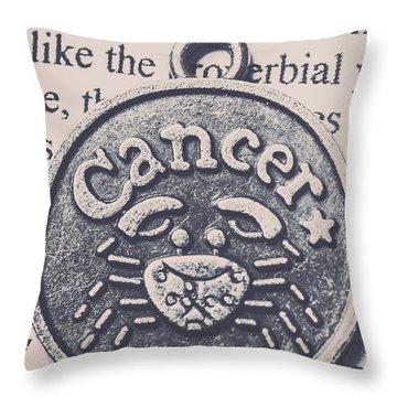 Cancer Zodiac Artwork Throw Pillow