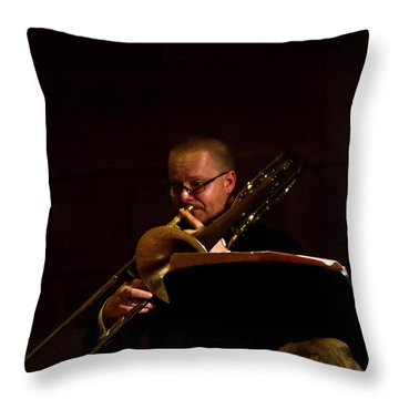 Throw Pillow featuring the photograph Cancon Primi Toni - Trombone by Miroslava Jurcik