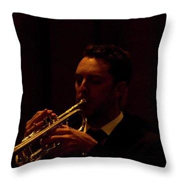 Throw Pillow featuring the photograph Cancon Primi Toni - Trumpet by Miroslava Jurcik
