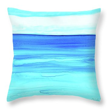 Throw Pillow featuring the painting Cancun Mexico by Dick Sauer
