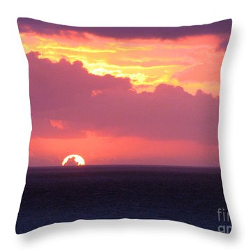 Sunrise Interrupted Throw Pillow
