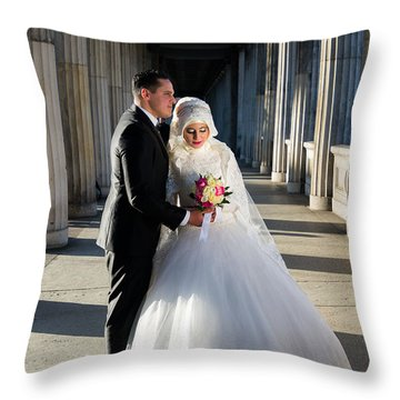 Candid Wedding Shot Throw Pillow