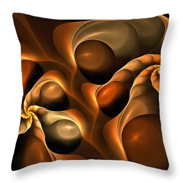 Candied Caramel Twists Throw Pillow