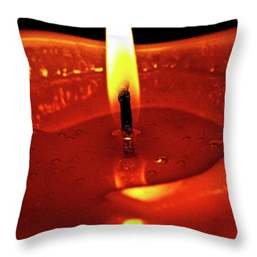 Candle Flame Throw Pillow by Christopher Holmes