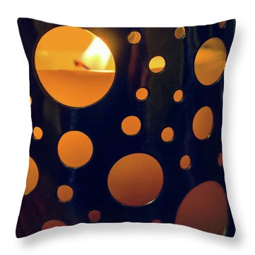 Throw Pillow featuring the photograph Candle Holder by Carlos Caetano