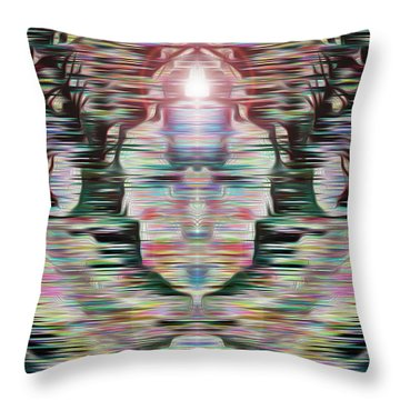 Throw Pillow featuring the digital art Alignment by Mark Greenberg