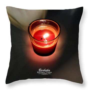 Candle Inspired #1173-3 Throw Pillow by Barbara Tristan