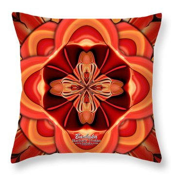 Candle Inspired #1173-4 Throw Pillow by Barbara Tristan