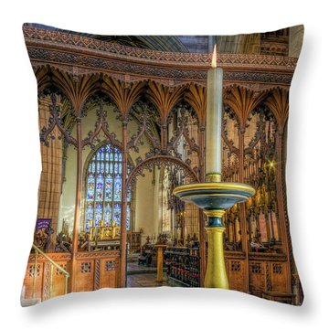 Throw Pillow featuring the photograph Candle Of  Prayer by Ian Mitchell