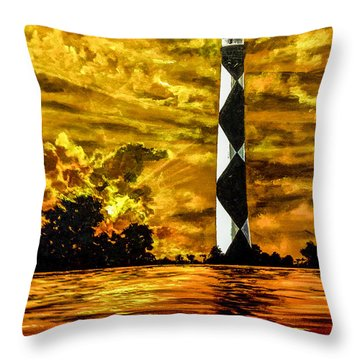 Candle On The Water Throw Pillow