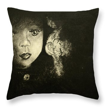 Candlelight Throw Pillow by Jane Autry